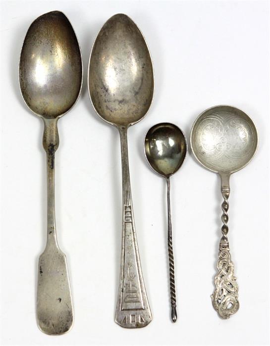 4 Silberlöffel