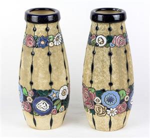 geritzte villeroy und boch vase